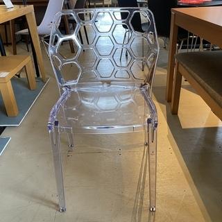 チェア 椅子 クリア 透明 中古品①