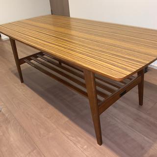 【週末特価】カリモク60 リビングダイニングテーブル大(ウォルナット)