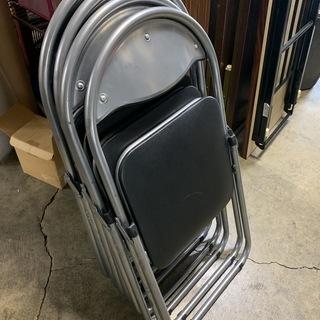 パイプ椅子4脚セット!  サンワサプライ ミーティングチェア 折...