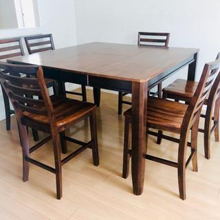 アメリカ家具カフェ風ハイテーブルハイチェアセット