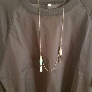 ビアズリー 天然石(風?)ネックレス