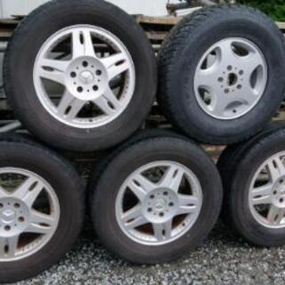 Gクラス W463 タイヤ&ホイールセット+スペアタイヤ