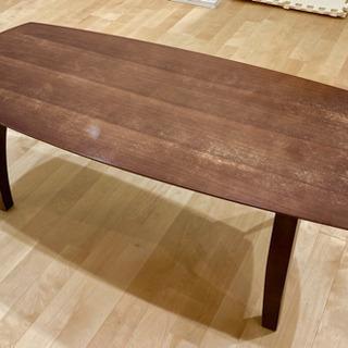 【無料で差し上げます】中古の折り畳み式木製ローテーブル