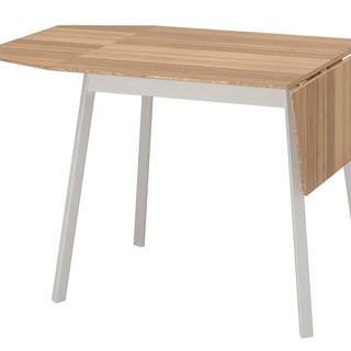 IKEA PS 2012 ドロップリーフテーブル, 竹, ホワイト