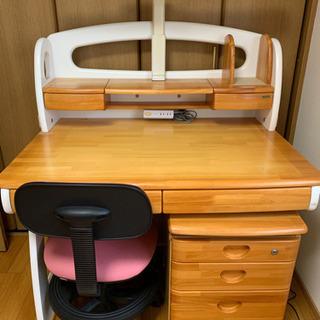 木製机、脇机、椅子(3点セット)