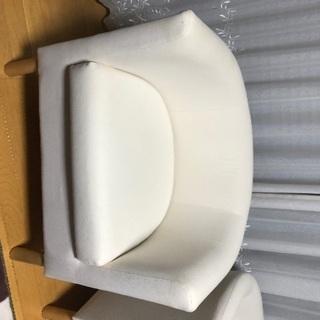 IKEA 白色1Pソファー2脚
