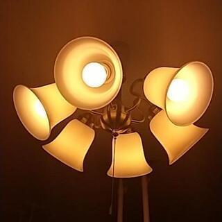 シーリングライト 傘6つ 電球つき