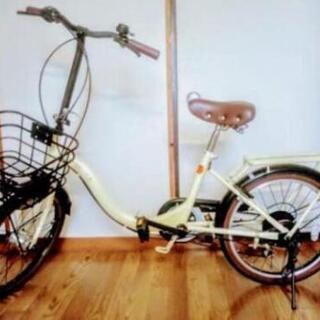 折りたたみ自転車 6段ギア オートライト