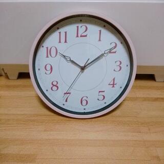 掛け時計 ピンク