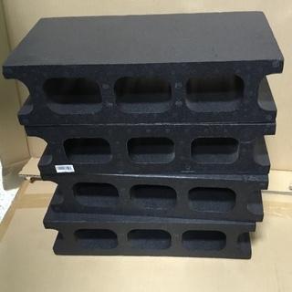 ◉発砲スチロール製・ブロック黒4個