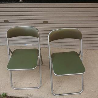 パイプ椅子 2個セット