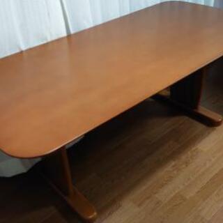 【引取先決定】ダイニングテーブル 180×85×68 茶