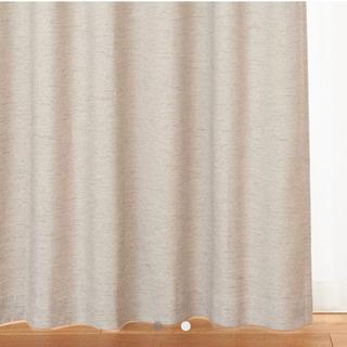 無印 カーテン 107×180 2枚 ポリエステルスラブ 遮光 ...