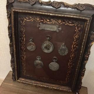 アンティーク風なコレクションフレーム☆古い時計