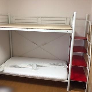 値下げ ロフトベッド 階段付き ソファーベッド 二段ベッド
