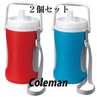 【新品】人気のColeman 大容量 水筒 1.9L 赤&水色 ...