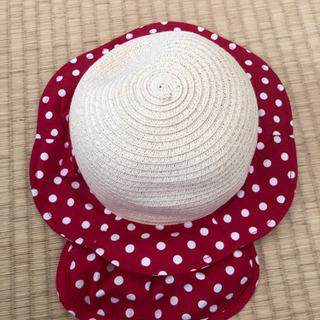 美品 48cm 水玉帽子