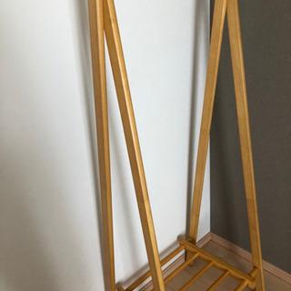 7月25日まで※ 天然木材ハンガーラック(大阪)