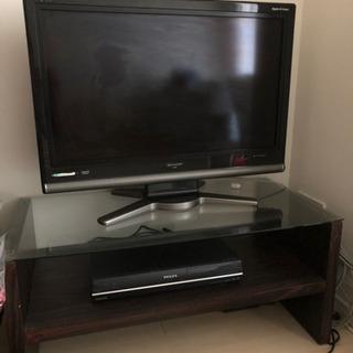 【3点セット】テレビ・HDD&DVDビデオレコーダー・テレビ台