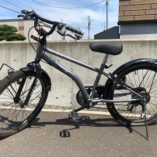 交渉中【無料/要修理】子供用22インチ 六段切替付き自転車 後輪...