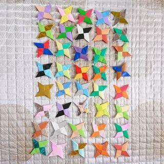 手裏剣 40個 折り紙