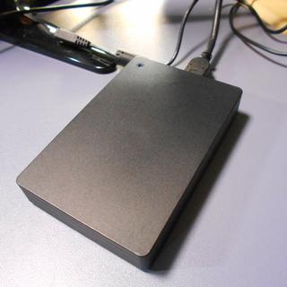 ポータブルハードディスク 2TB 使用時間約125時間
