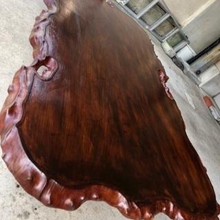 高級カリンの木一枚板テーブル!!値下げしました!