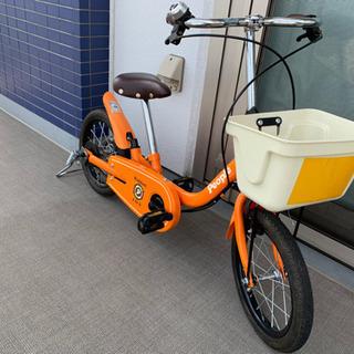 幼児用自転車 PEOPLE いきなり自転車 舵取り棒補助輪付