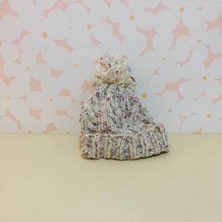 手編み帽子 カラフル