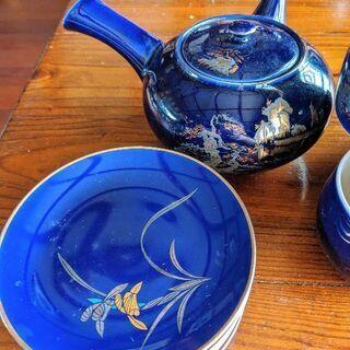 青い中華風ティーセット