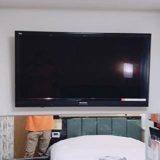 液晶テレビの壁掛け設置工事いたします。