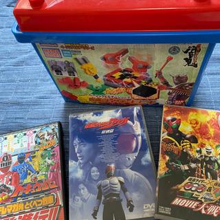 仮面ライダー、スーパー戦隊 DVD 3枚 ブロック