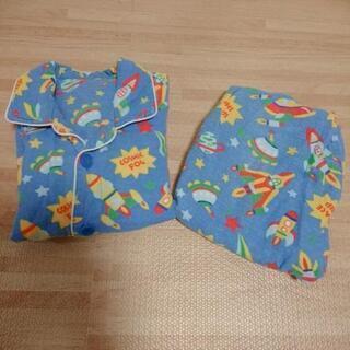 110 子どもパジャマ 通年用 ブルー