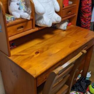 学習机・勉強机♪子供用  収納沢山、木製  使用感あり