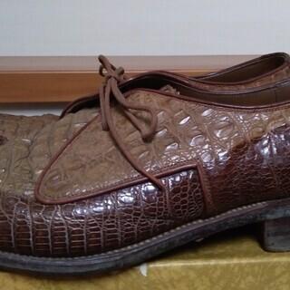 中古紳士靴 わに革(クラウン背革) アウトソール28cm