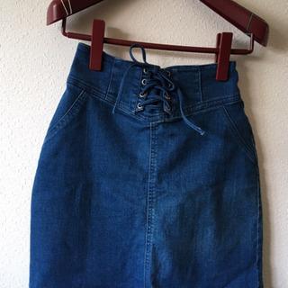 青色スカート
