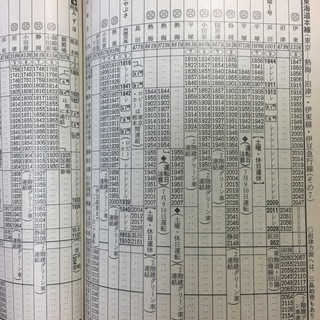JR東日本版 94年夏 時刻表の画像
