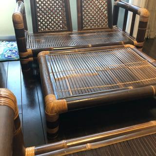 竹ソファー&竹テーブルセット