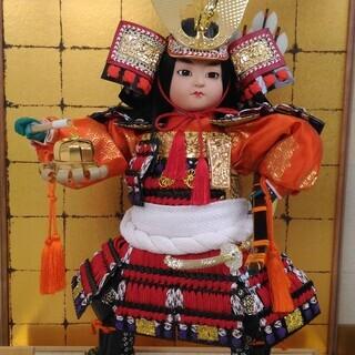 五月人形 鎧兜 (ガラスケース付き)