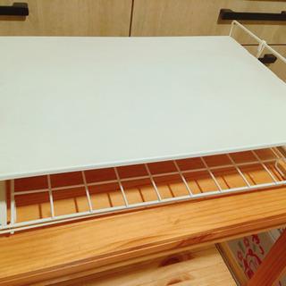 キッチン 収納台 トースター台 スライド式