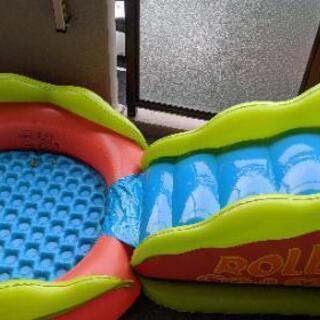 家庭用プールすべり台セット+エアーポンプ