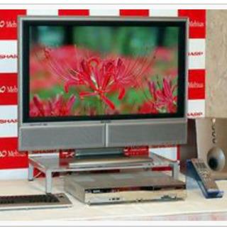 パソコンテレビ、ウーハースピーカー、ガラステレビ台 セット