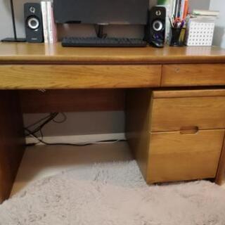 木製デスク 椅子付