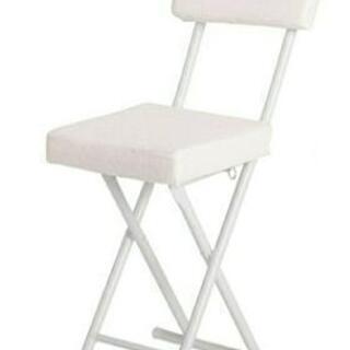 折りたたみチェア/パイプ椅子 (背もたれ付き) アイボリー