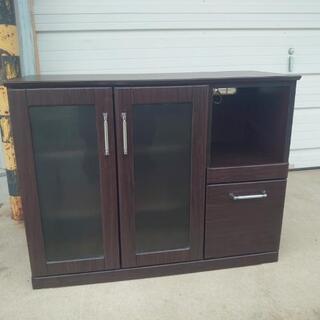 お手軽キッチン収納 小型食器棚サイズ高さ80✕奥行き43✕幅104