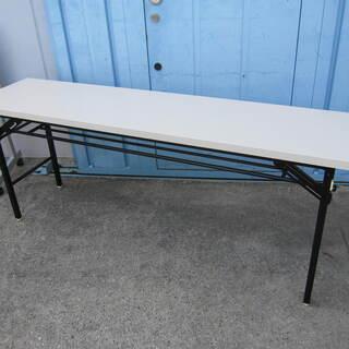 折りたたみテーブル ホワイト W1800