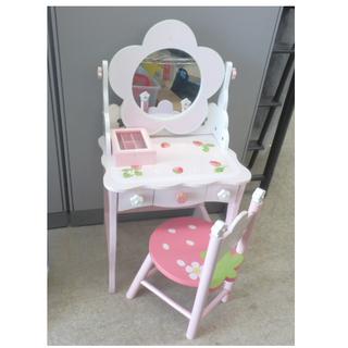 木製おもちゃ マザーガーデン ドレッサーセット 椅子付き 小物入...