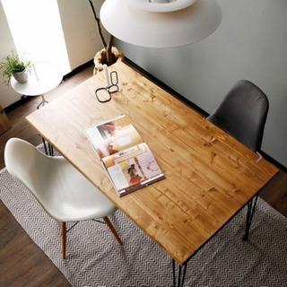 【未使用】ダイニングテーブル120cm天然木 無垢材 パイン