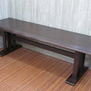 ss1292 ダイニングベンチ ダークブラウン 木製 ベンチシー...