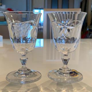 新品未使用✨ボヘミアガラス LASKA ワイングラスペア クリスタル